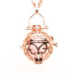 Essentail Oil Necklace Rose Gold Large, Izzybell Jewelry (6)