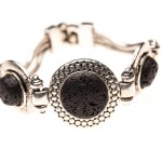 Essential Oil Diffuser Jewelry, Lava Rock Three-Stone Aromatherapy Bracelet - Izzybell Jewelry
