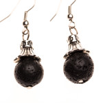 Essential Oil Diffuser Jewelry, Aromatherapy Earrings Lava Rock Ball - Izzybell Jewelry