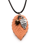Essential Oil Diffuser Necklace Terracotta Pendant Owl, Izzybell Jewelry