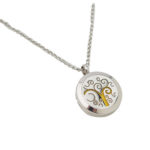 Swirl Stainless Steel Necklace Izzybell Jewelry